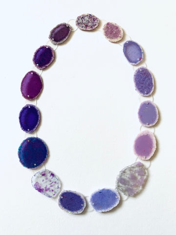 Dust Necklace Lilac/Blue