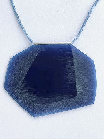 Facet Necklace Blue