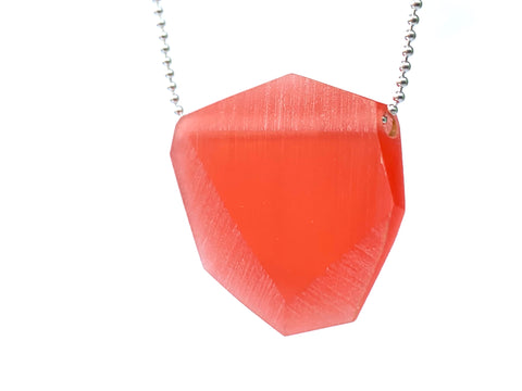 Facet Pendant (Small) Coral