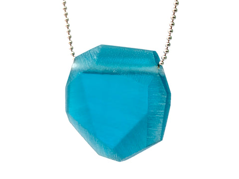 Facet Pendant (Small) Teal