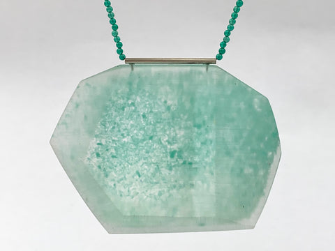 Facet Necklace Green