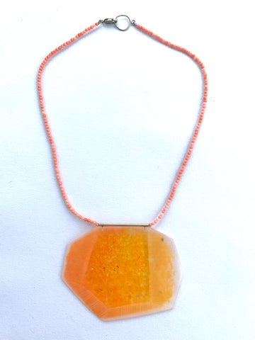 Facet Necklace Orange