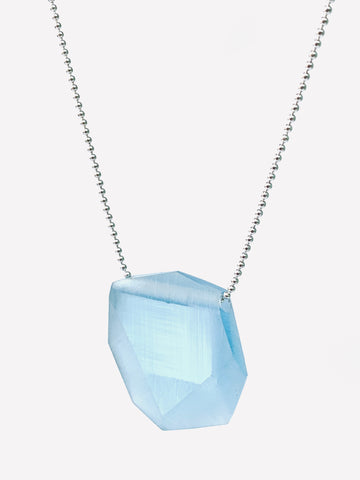 Facet Pendant (Small) Pale Blue