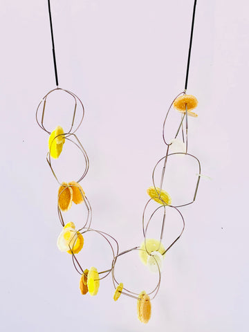 Dust Loops Necklace Yellow
