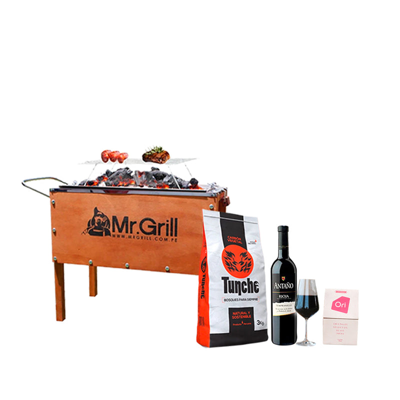 Combo Cyber - Caja China Mr.Grill Mediana Inox + Regalos
