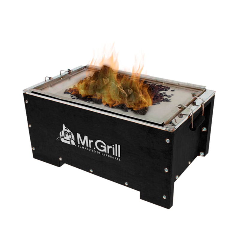 "Mr. Grill - Combo Caja China Black Edition - Mini ""S"""