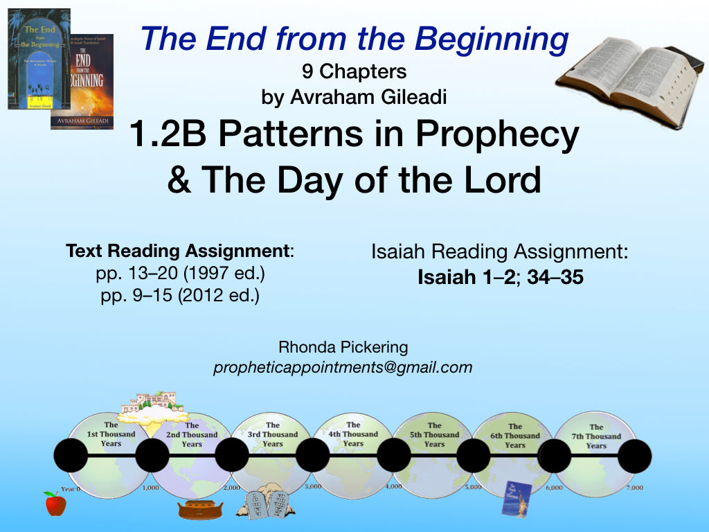 Lesson 2 (1.2B) Patterns & The Day of the Lord