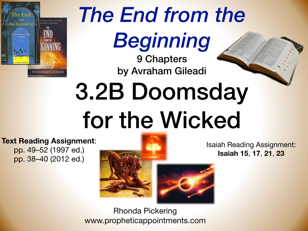 Lesson 9 - Doomsday for the Wicked (3.2B)