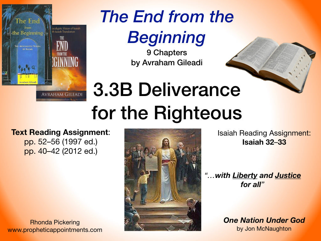 Lesson 10 (3.3B) Deliverance of Zion