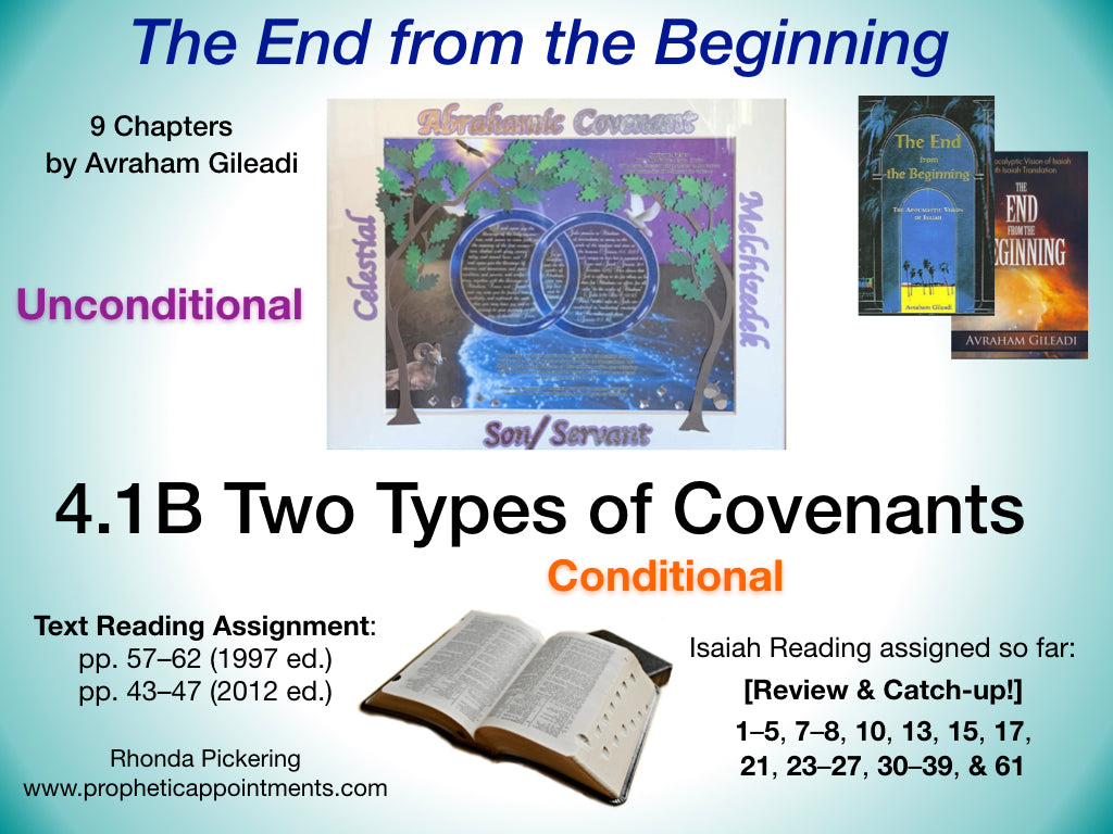 Lesson 11 (4.1B) Two Types of Covenants