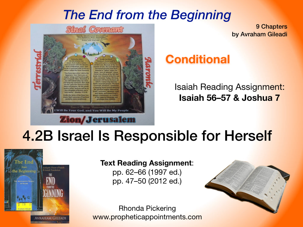 Lesson 12 Israel Is Responsible for Herself (4.2B)