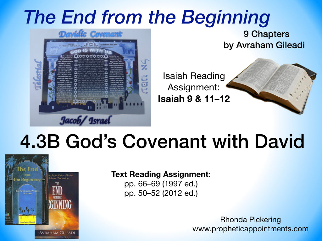 Lesson 13 (4.3B) The Davidic Covenant