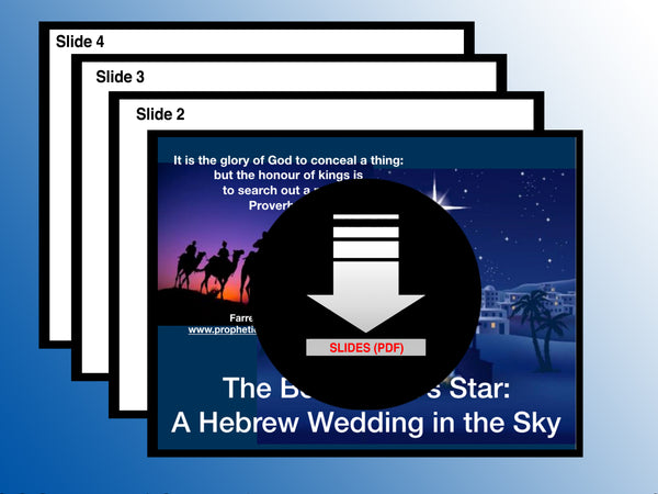 SLIDES - The Star of Bethlehem: A Hebrew Wedding in the Sky