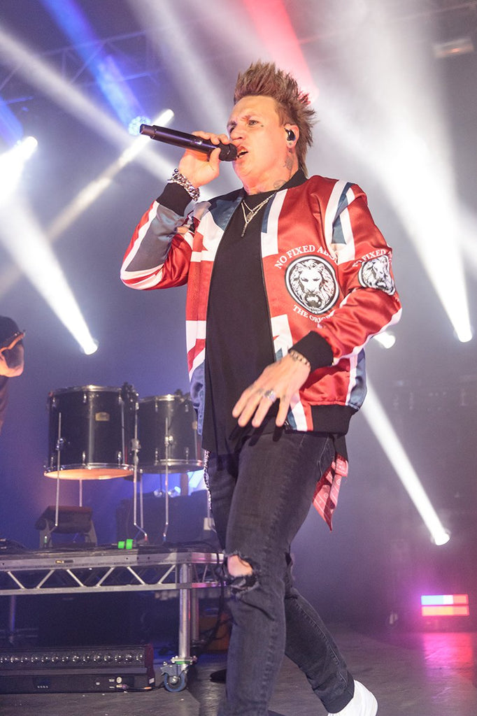 Jacoby Shaddix Papa Roach No Fixed Abode Union Jack Jacket UK London Tour