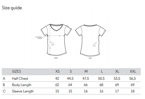 No Fixed Abode Luxury Streetwear Womens V Neck Size Chart