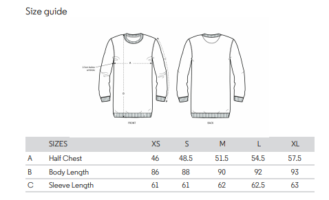 No Fixed Abode Luxury Streetwear Womens Sweatshirt Dress Size Chart