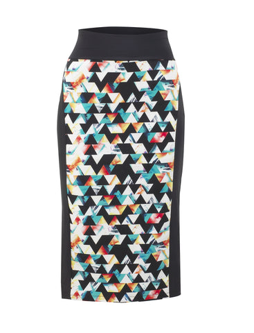 No Fixed Abode Luxury Designer British Streetwear Geometric Pencil Midi Skirt Win worth £245 competition