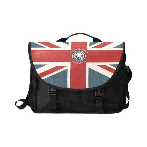"NO FIXED ABODE,15"" Laptop Bag NFA The Original Union Jack Satchel,Laptop Cases,One Size"
