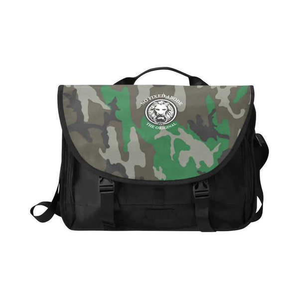 "NO FIXED ABODE,15"" Laptop NFA The Original Green Camo Satchel Bag,Laptop Cases,One Size"