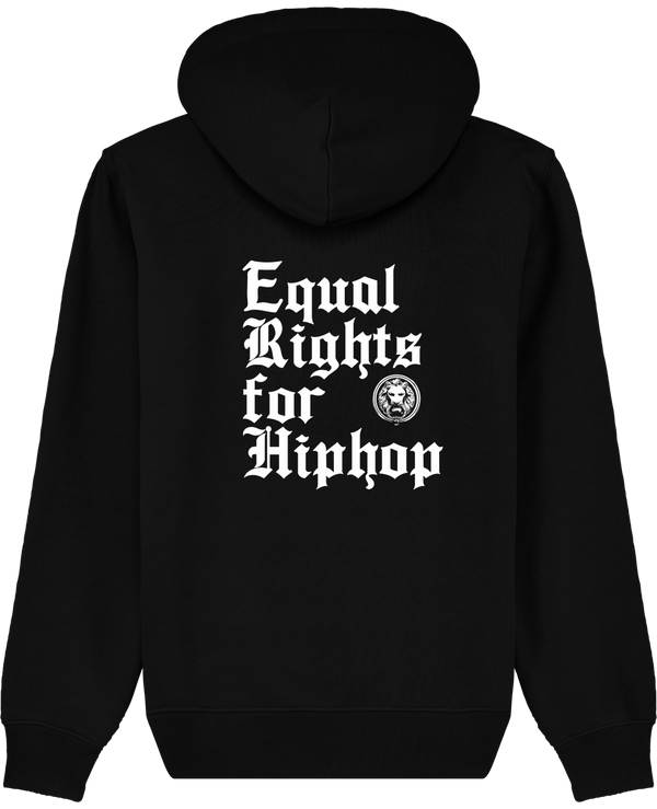 Equal Rights for Hiphop Hoodie Black Back Luxury Streetwear No Fixed Abode