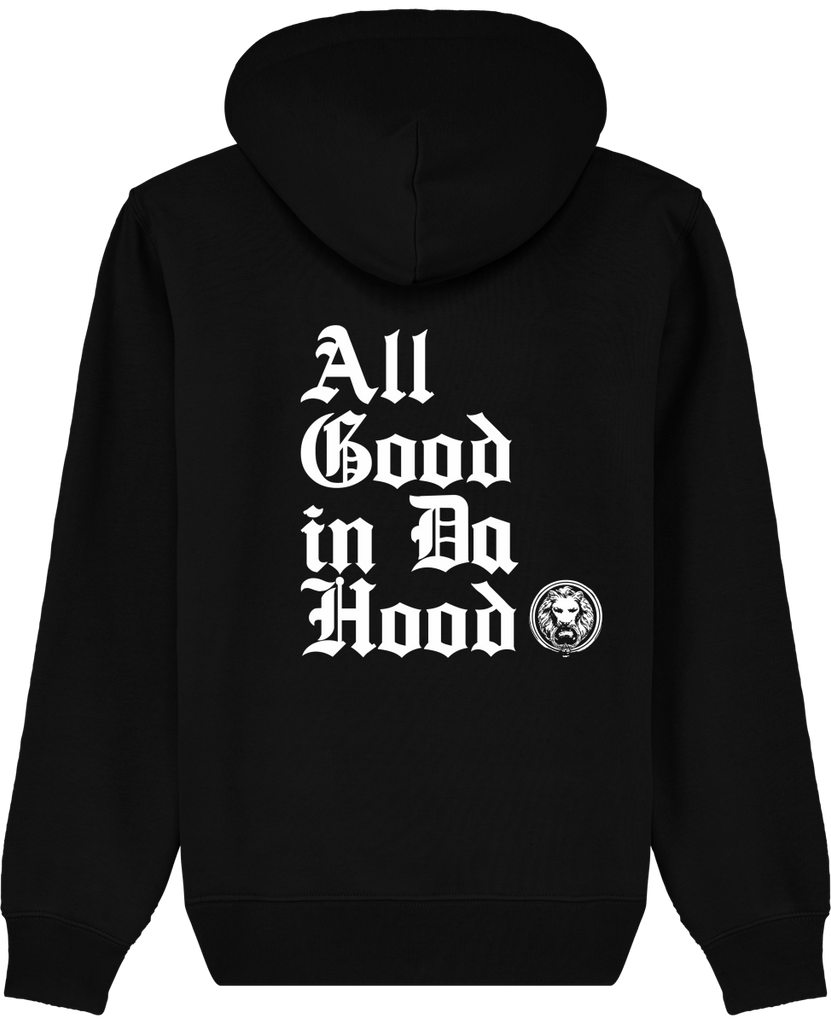 all good in the hood unisex mens womens black luxury streetwear hoodie