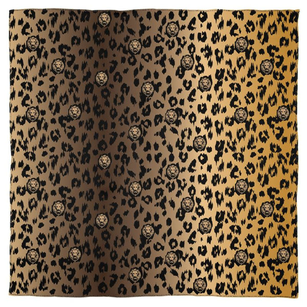Front luxury leopard print scarf lion streetwear brown
