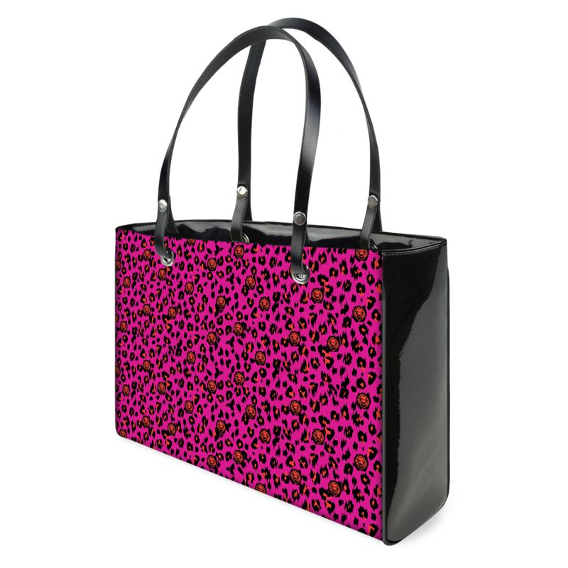 front luxury streetwear brand handbag pink leopard print large small bag womens stret design