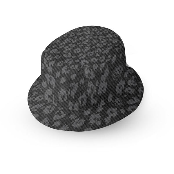 Luxury streetwear black leopard print design mens women kids bucket hat