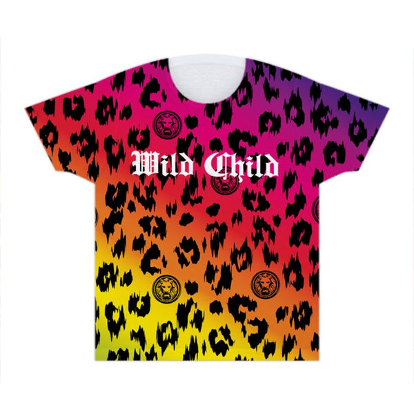 Kids Rainbow Wild Child Leopard T Shirt