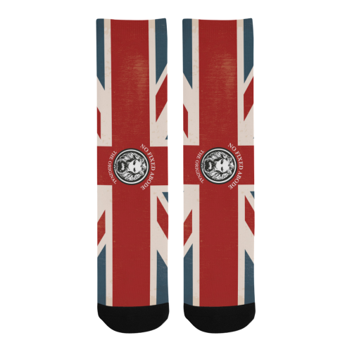 No Fixed Abode NFA The Original Union Jack Luxury Streetwear London Socks pair