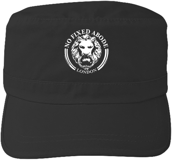 Black Mens Womens Streetwear Lion Army Cap No Fixed Abode