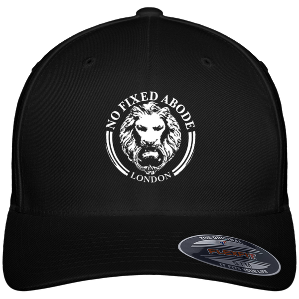 Black Baseball Cap Lion