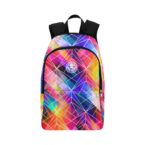 Mens Womens Brightly Coloured Travel Day Backpack Geometric London No Fixed Abode