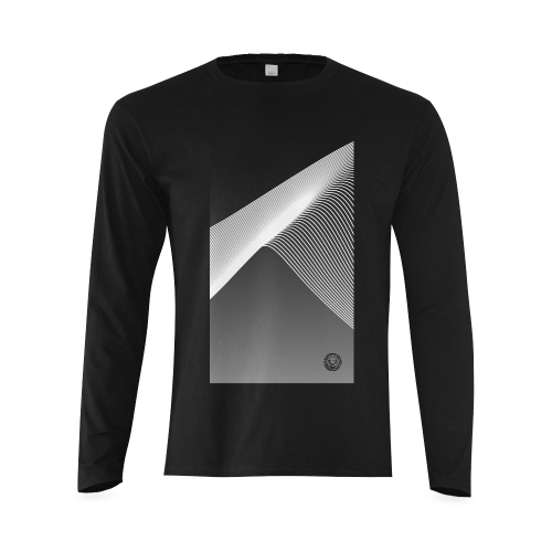 Vic Mens Black & White Long Sleeve T-shirt Luxury Streetwear No Fixed Abode Front