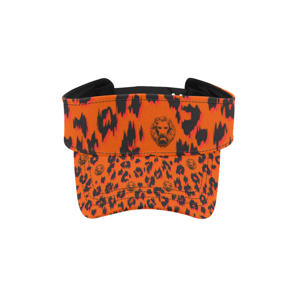 Orange Leopard Visor