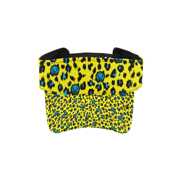 Yellow Leopard Visor