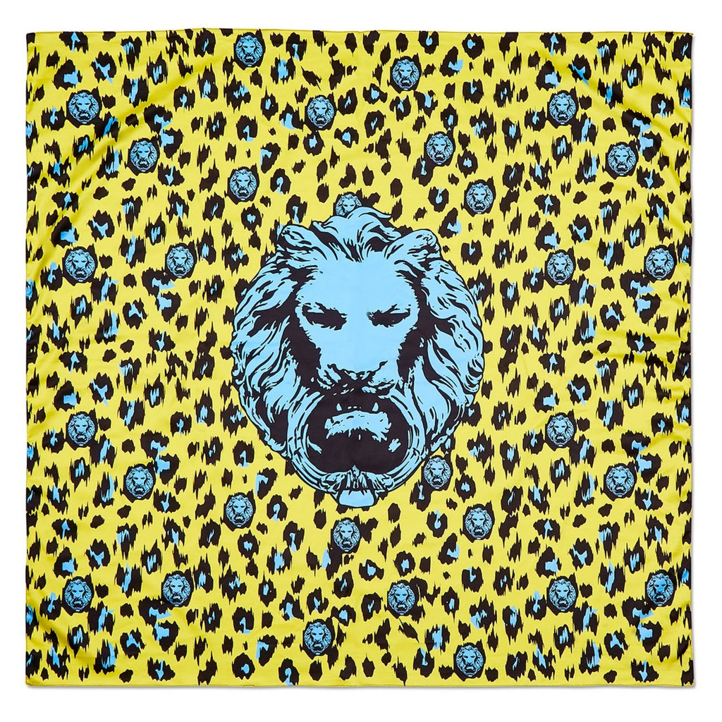Yellow & Blue Leopard Scarf
