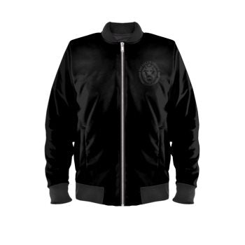 Luxury Streetwear Black Lion Understated Marcus Bomber Jacket front
