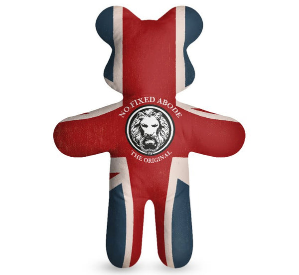 No Fixed Abode Luxury Streetwear Union Jack Teddy Bear Gift Ideas