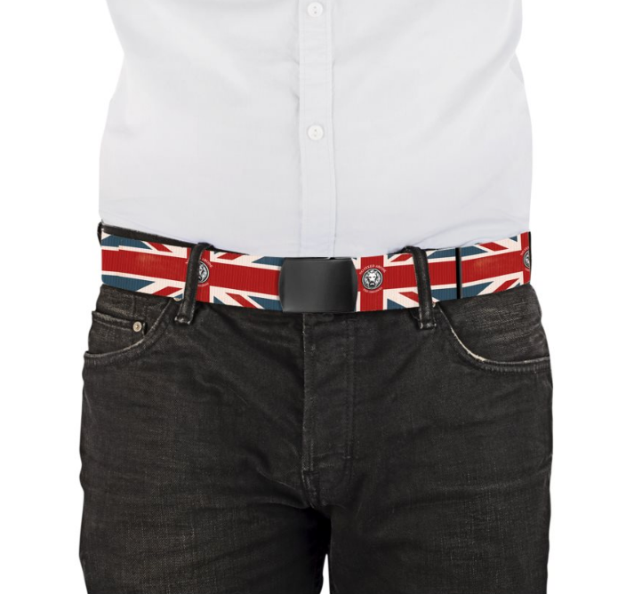 Union Jack Belt Luxury Streetwear Limited Edition Made in London No Fixed Abode