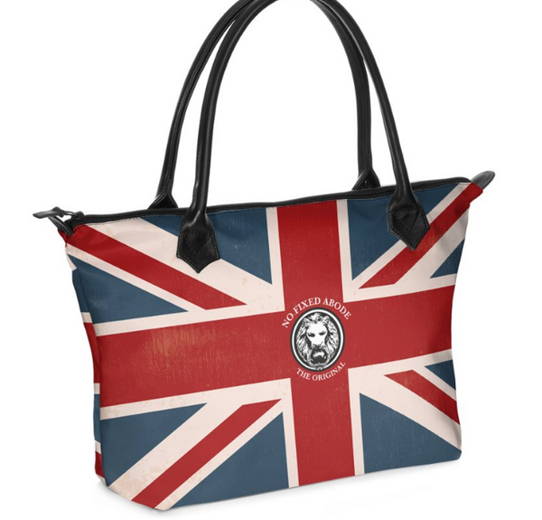 Union Jack Satin Tote