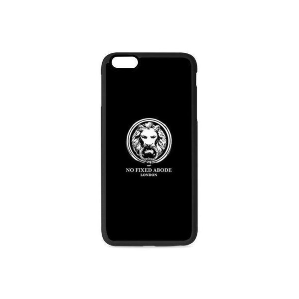 NO FIXED ABODE,Black iphone 6 Plus case with White Lion,Technology,One Size