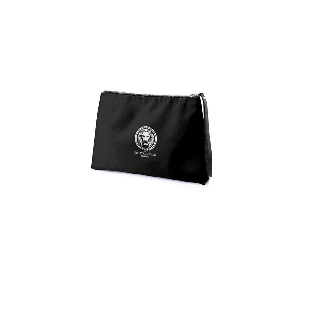 NO FIXED ABODE,Black No Fixed Abode Lion Clutch Bag,Accessories,Black / Satin / S,M