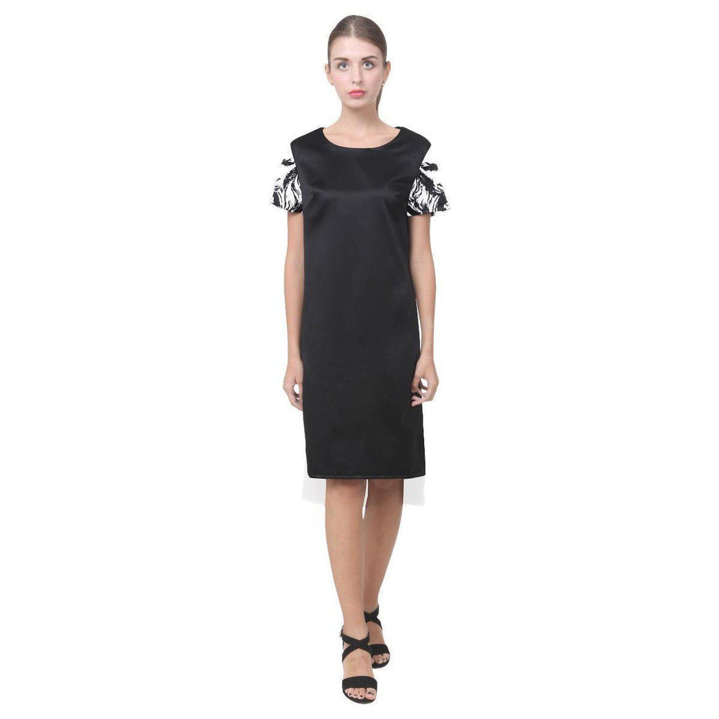 NO FIXED ABODE,Black Womens Dress Short Lion Sleeves,Dresses,XS