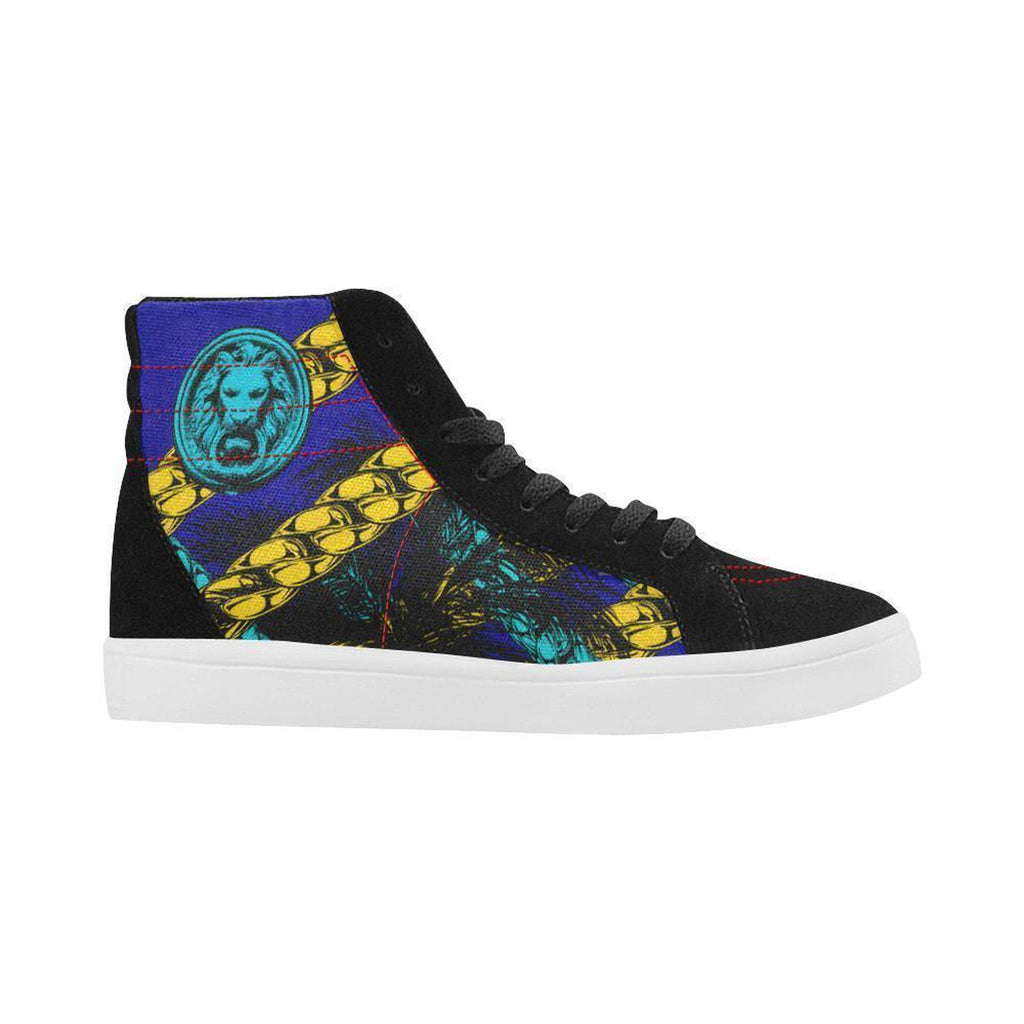 Blue Chain Lion Black Skate High Tops,Footwear,NO FIXED ABODE,[uk],[luxury_streetwear],[free_shipping]