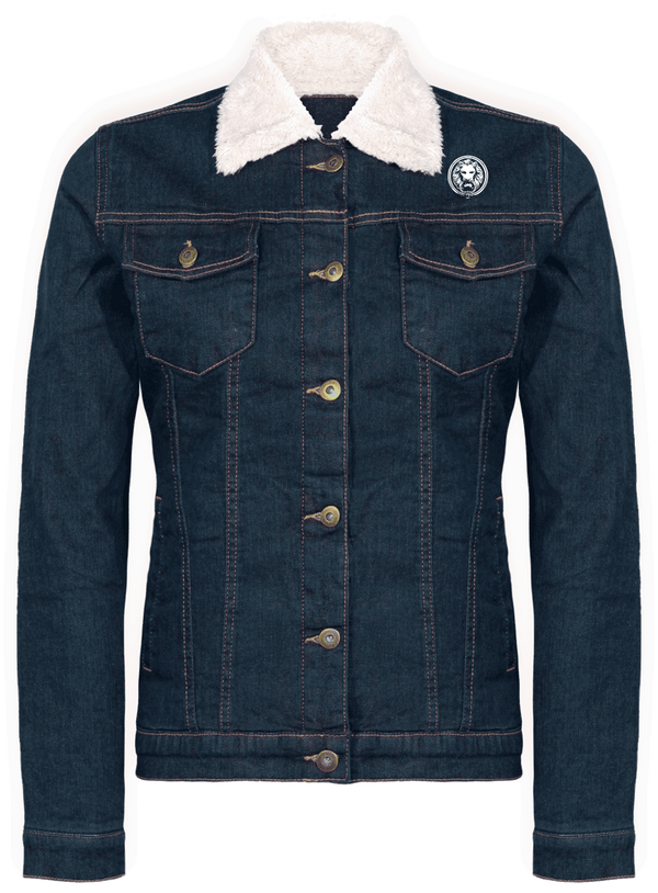 NO FIXED ABODE,Denim Jacket Fleece,Coats and Jackets,Denim Blue / XS