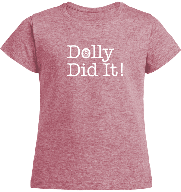 Dolly Did It T-shirt-T-Shirts-Red-3/4 age-NO FIXED ABODE Luxury Streetwear UK