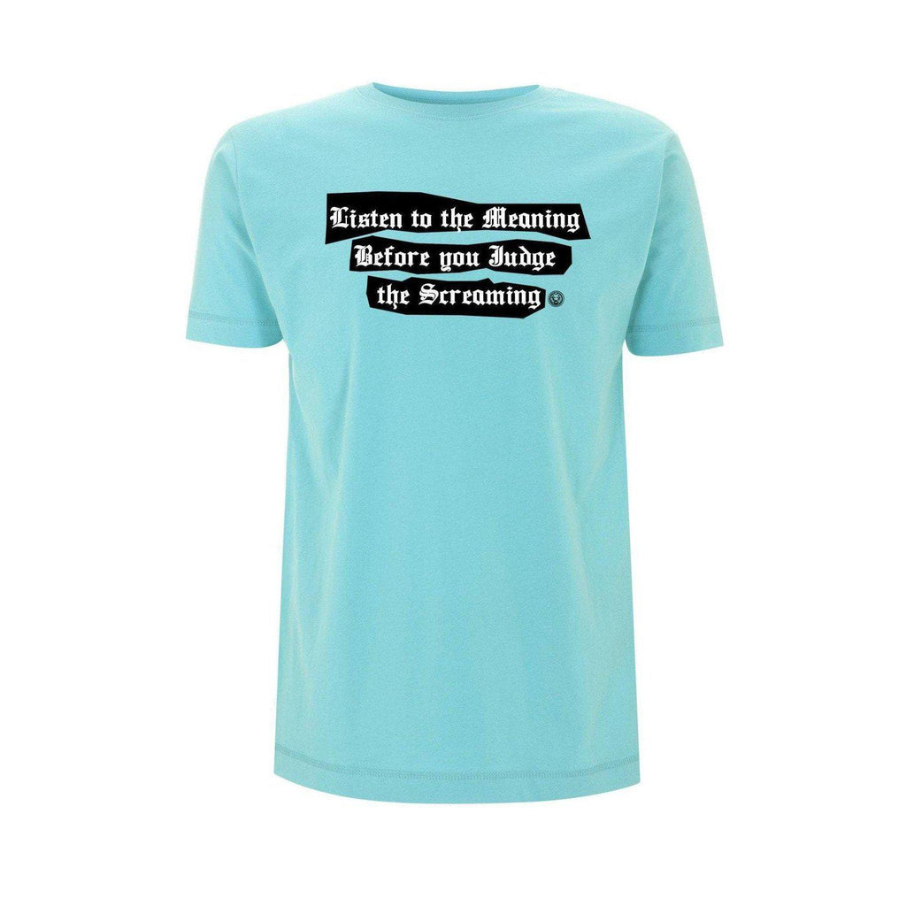 NO FIXED ABODE,Don't Judge Mens T-shirt,T-Shirts,XS / Turquoise / 100% Cotton