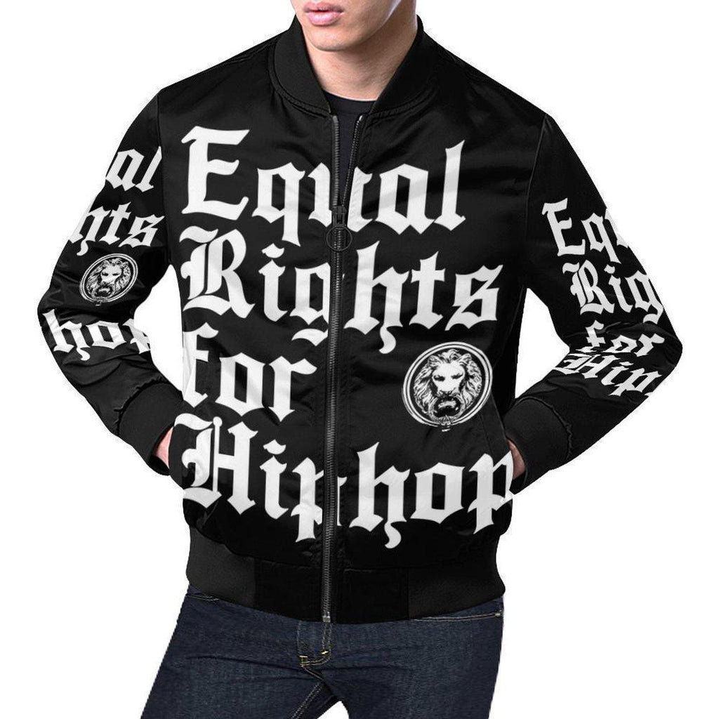 NO FIXED ABODE,Equal Rights for Hiphop Mens Bomber Jacket,Jackets and Coats,XS