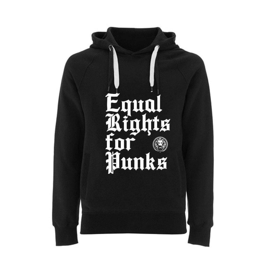 NO FIXED ABODE,Equal Rights for Punks Hoodie,Sweatshirt,Unisex / Black / X Small